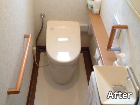 洋式トイレの事例